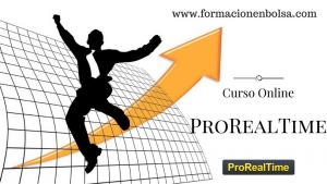 persona saltando con una flecha apuntando arriba y descripción curso online prorealtime
