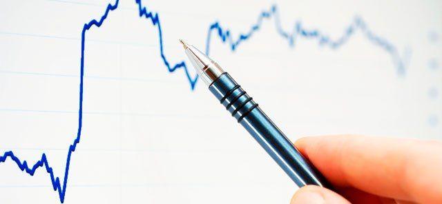 Gráfico con bolígrafo para describirlo