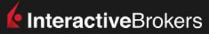 Logotipo de Interactive Brokers con fondo negro y letras blancas