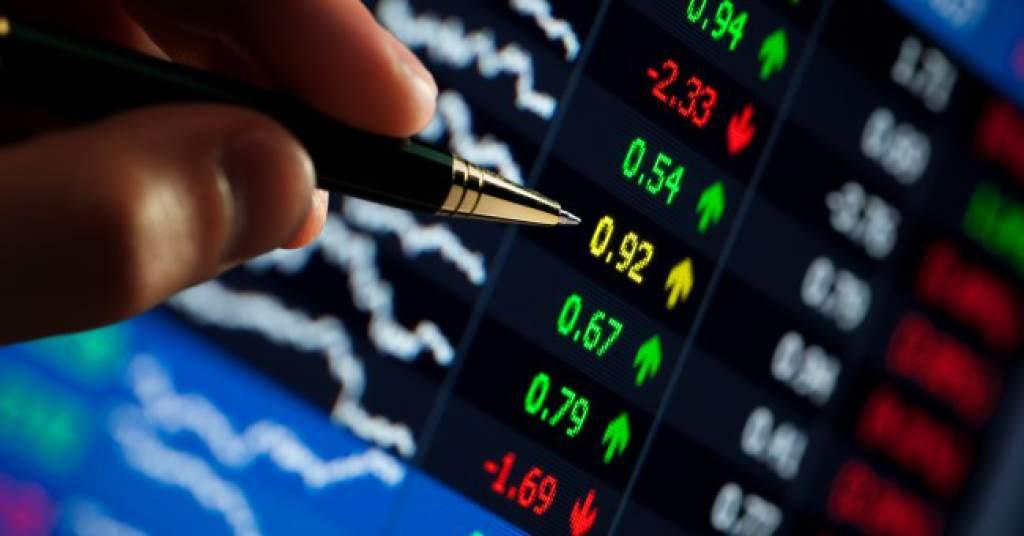 Gráfico con el mercado de valores