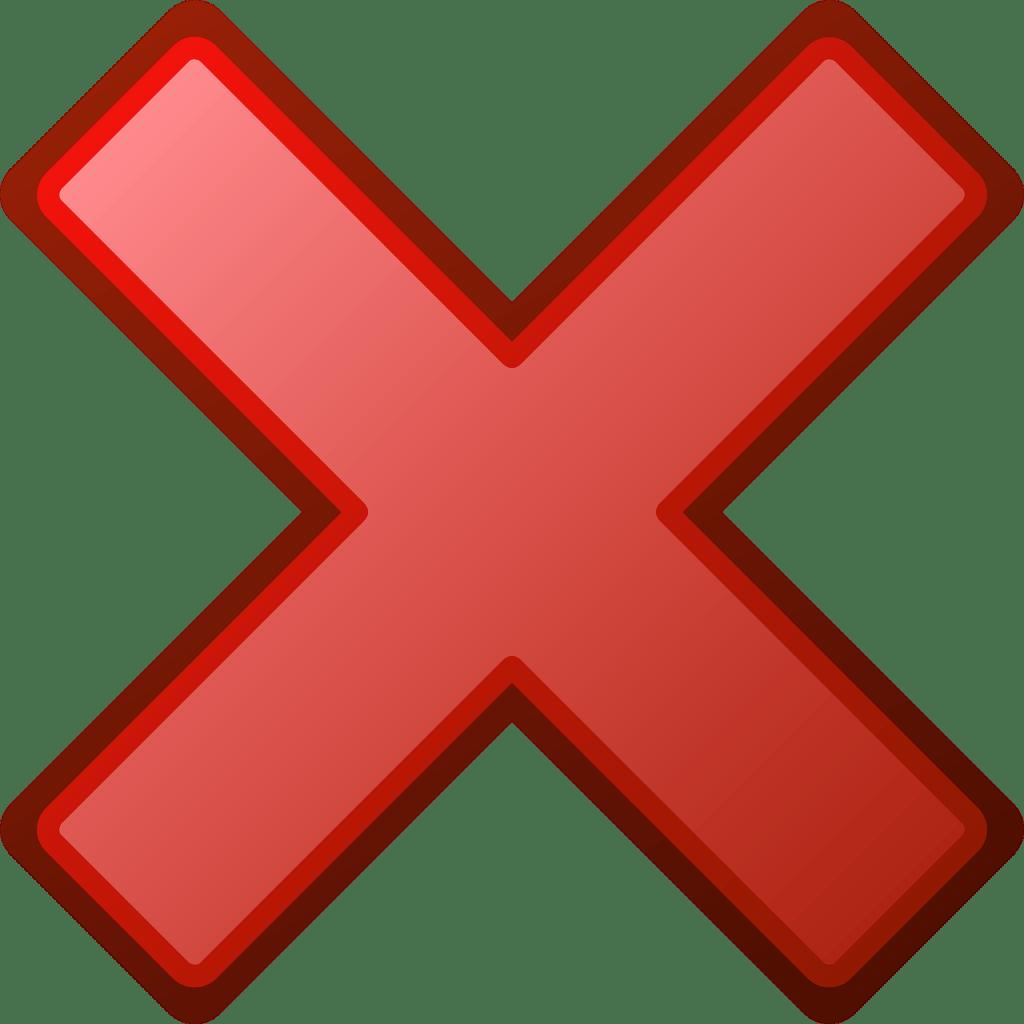 cruz en rojo