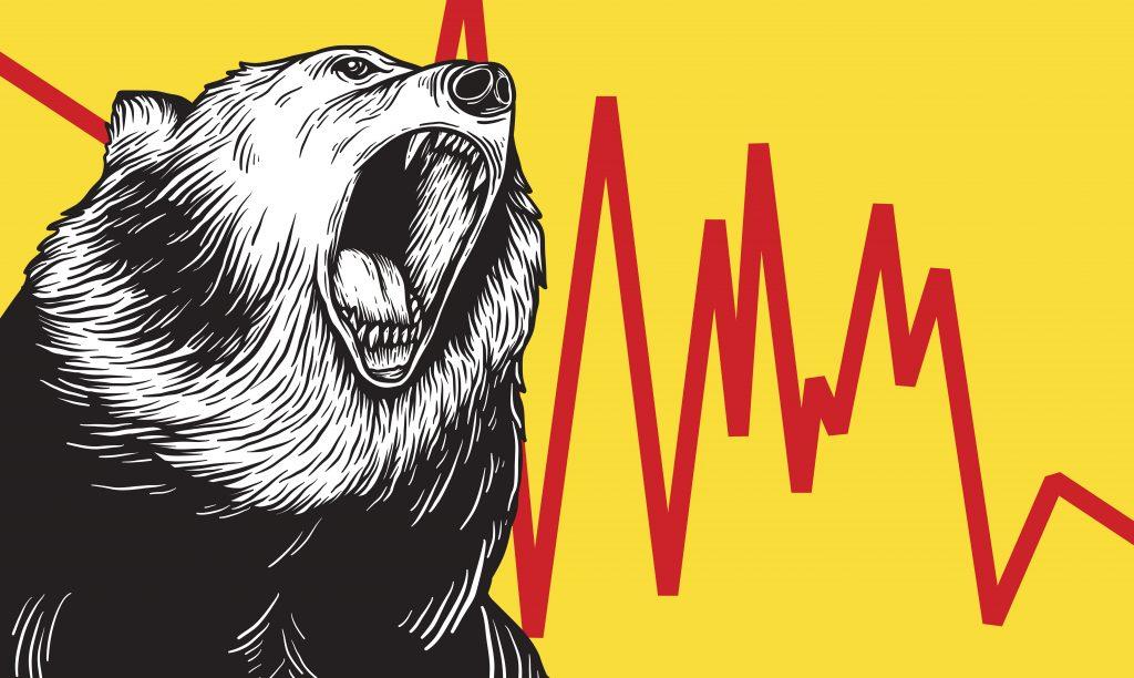 oso con gráfico de volatilidad
